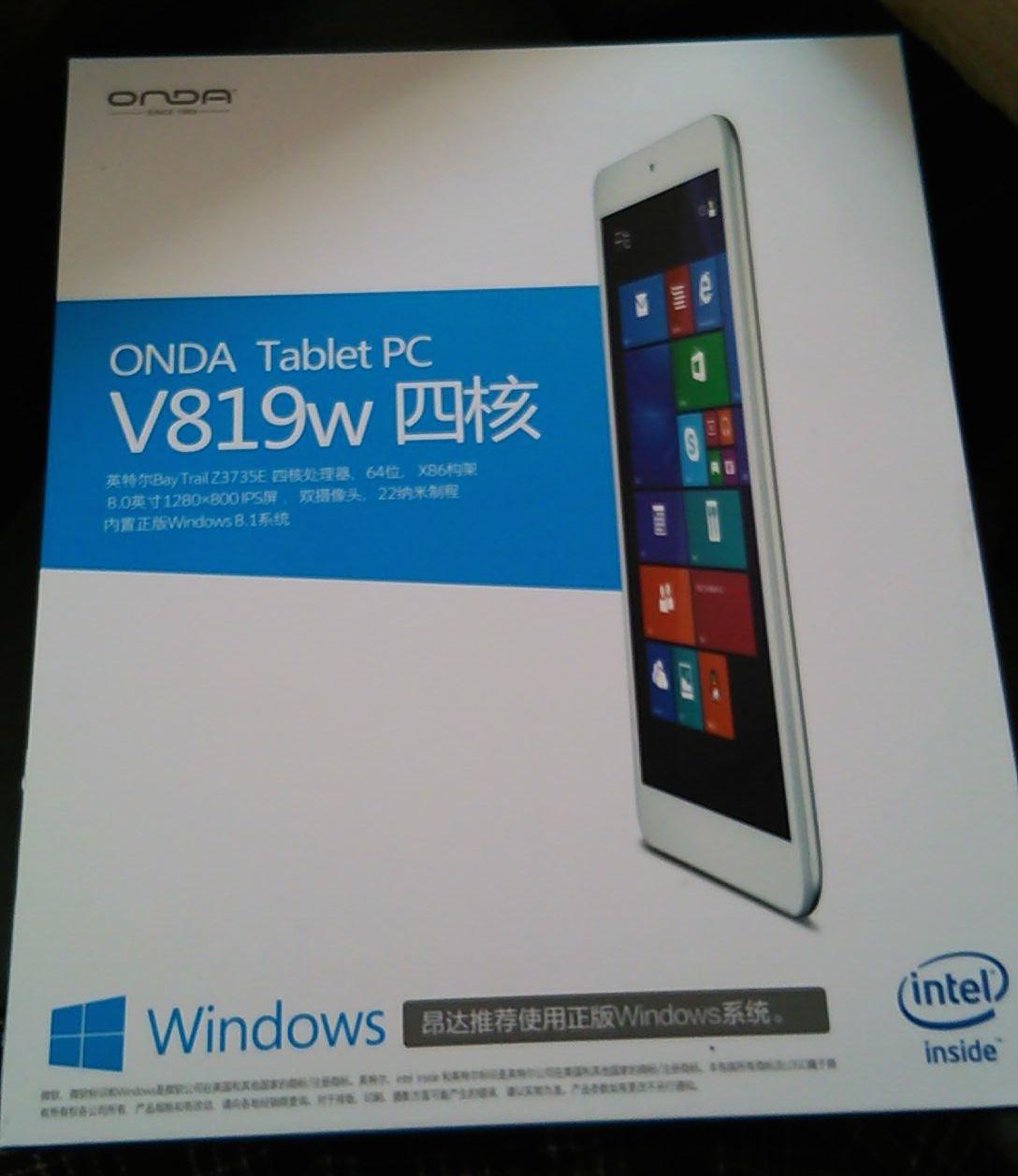 激安中華Windowsタブレット「ONDA V819W」レビュー
