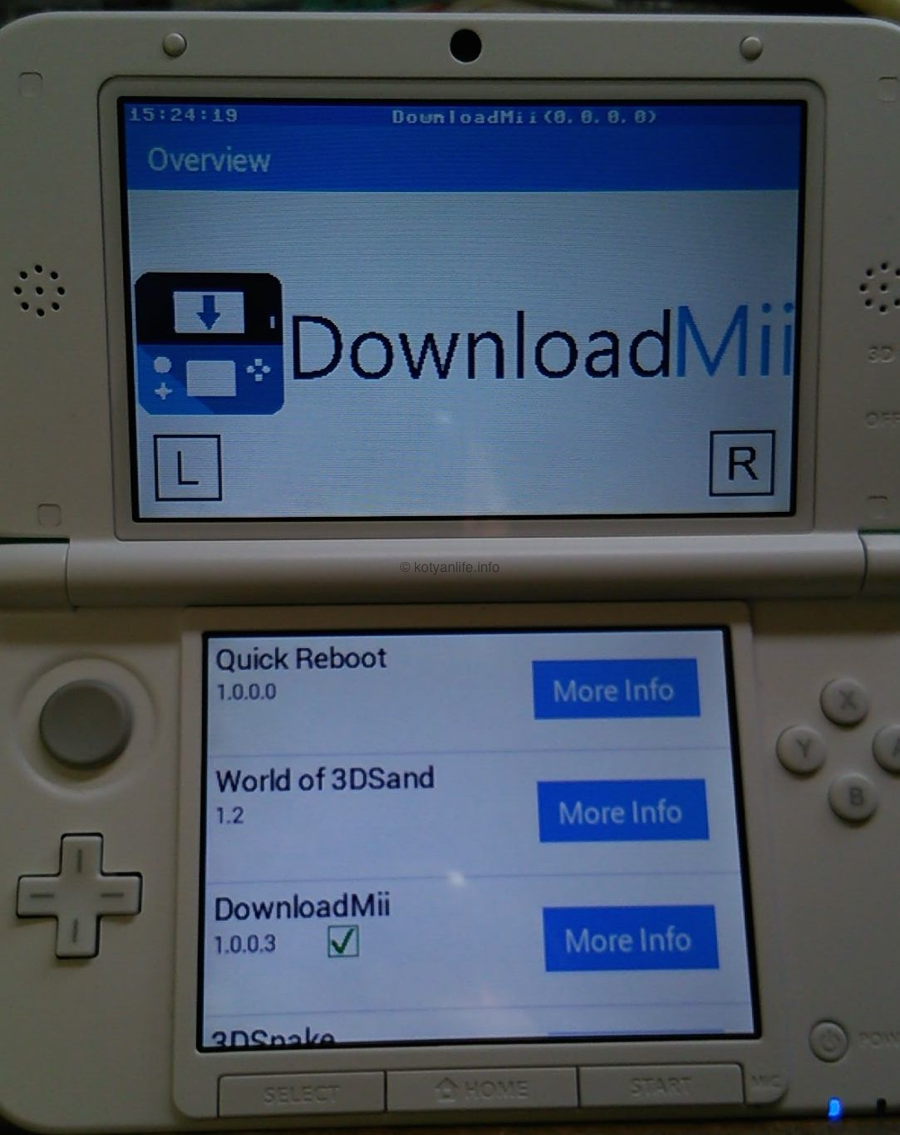 3DS Homebrew Store「DownloadMii」リリース [導入方法]