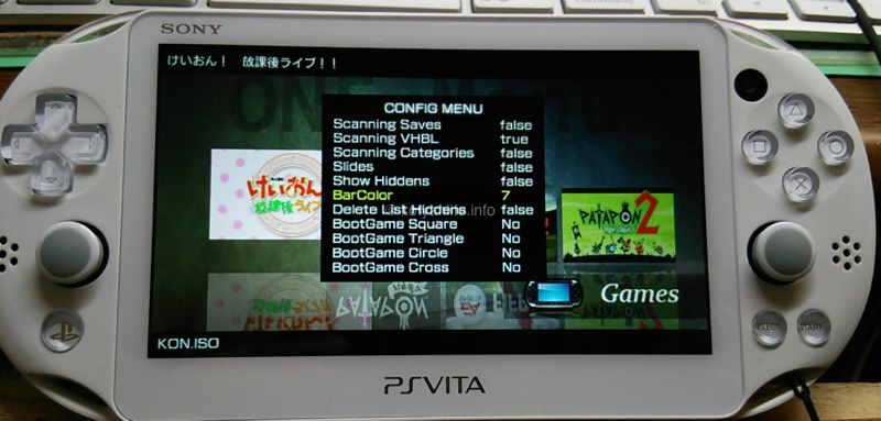 PS Vita FW3.55 eCFW ARK Bubble リリース
